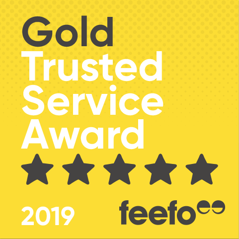 Gold Trusted Service Award Badge - Provided By Feefo