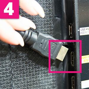 Step 4:TV HDMI input