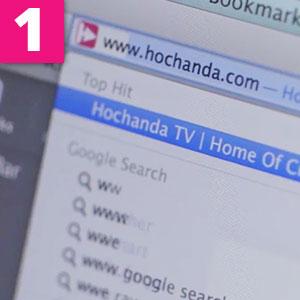 Step 1:Type www.hochanda.com into your computer browser