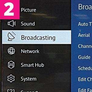 Step 2:Select Broadcasting