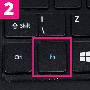 Step 2:The fn key