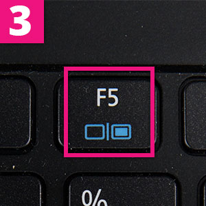 Step 3:Press the f key with a symbol like this