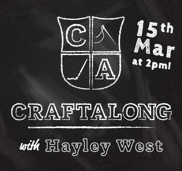 Craftalong with Hayley West March 2020