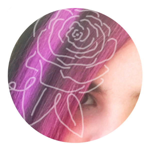 Purple Rose Embroidery