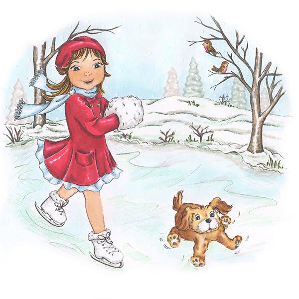 Angela Poole Kitty Skating