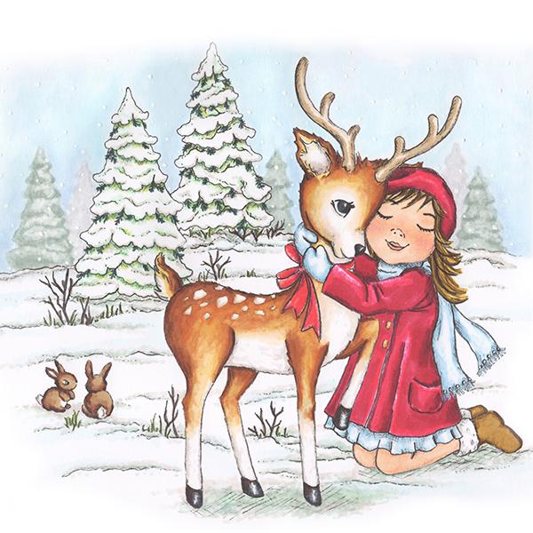 Angela Poole Kitty Reindeer
