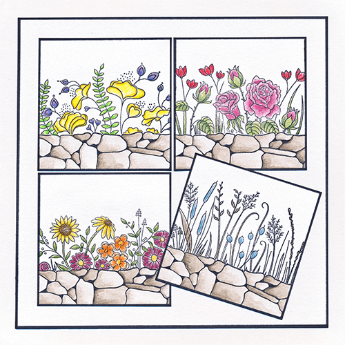 Clarity Garden Flower Stamp