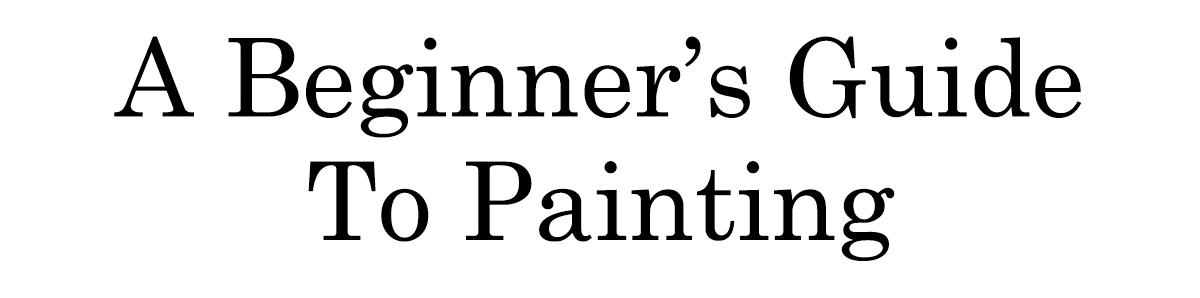 a beginners guide to painting