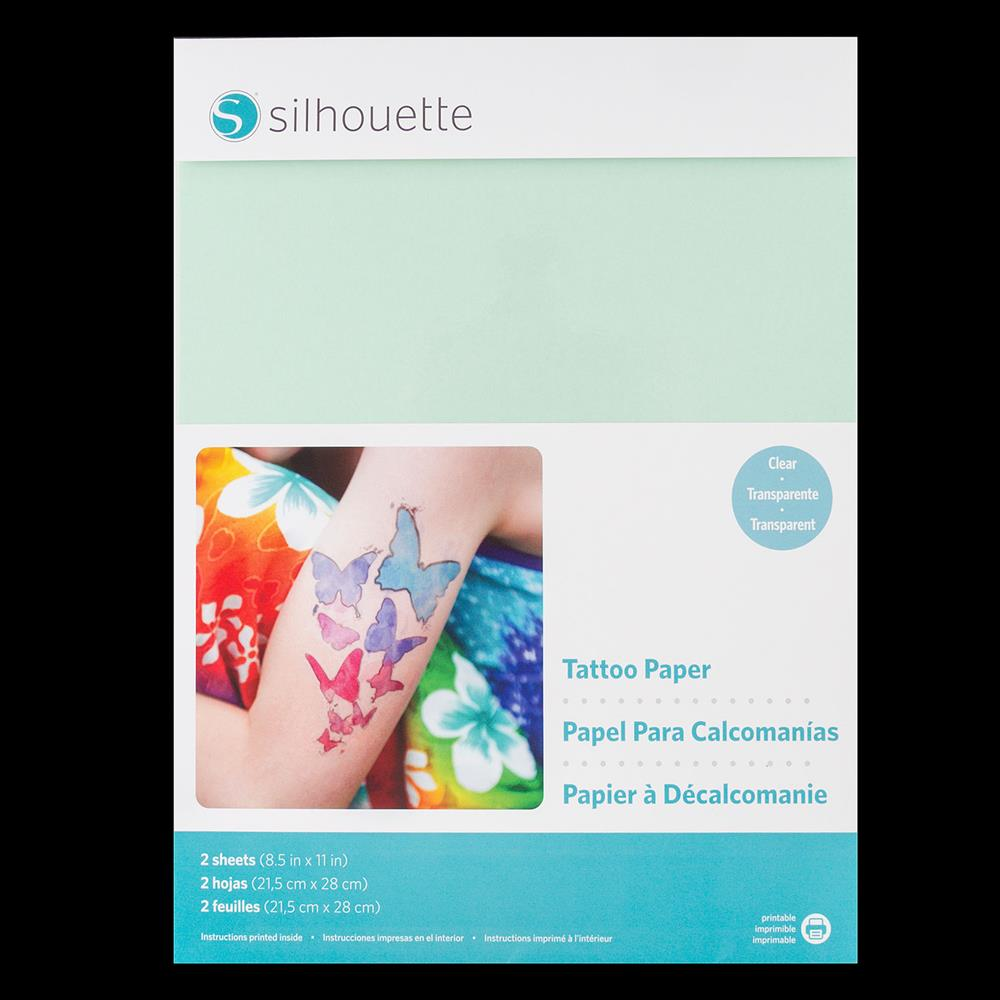 picture regarding Printable Tattoo Paper identify Silhouette 8.5x11\