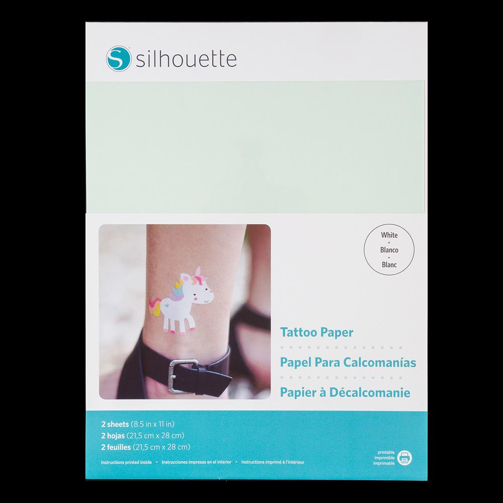 picture about Silhouette Printable Tattoo Paper identified as Silhouette 8.5x11\