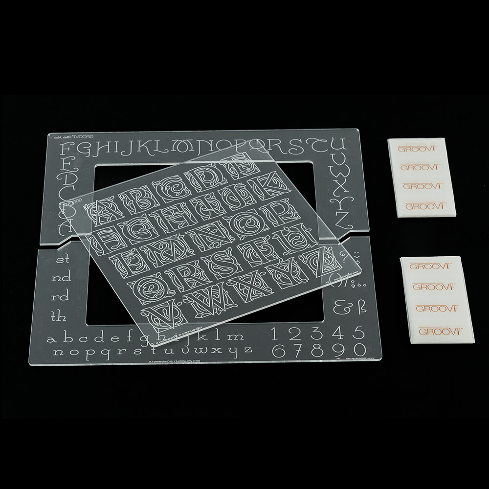 Clarity Stamps Groovi Parchment Embossing Clock Faces A4 Square Groovi Plate