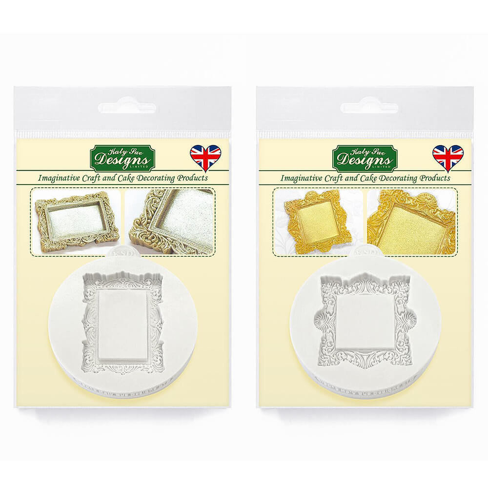 Katy Sue Vintage Square & Rectangle Mini Frame Silicone Moulds