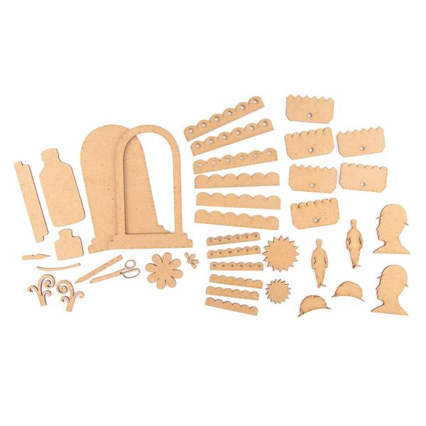 Studio 490 Art Parts - Serum of Art, For The Guys, Tag Toppers & Scallop  Trim - 4 Packs Total
