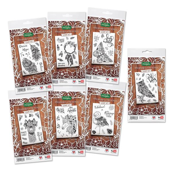 Owl Clear Polymer Stamp Set for Card Making and Paper Crafts Adventures in Creativity Emma Boyes