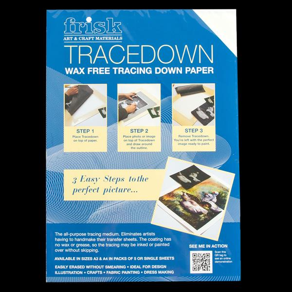 Tracedown Graphite Paper Pack of 5 Sheets A3 or A4