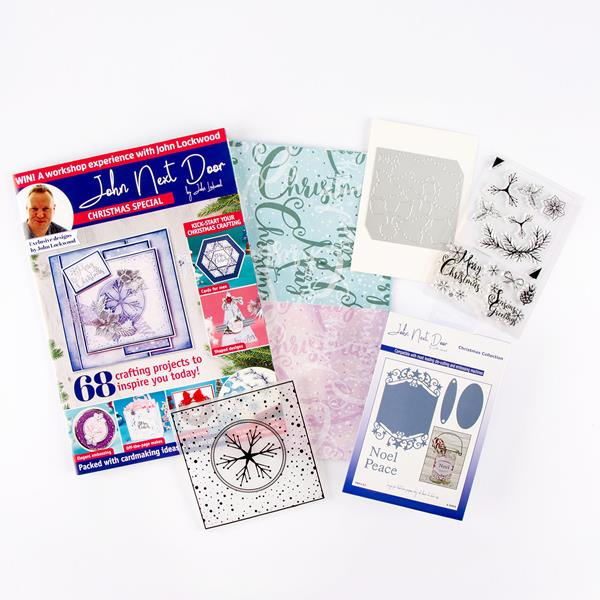 John Next Door Christmas Dies.John Next Door Christmas Special Magazine Box Kit And Elegant Star Label Die Set