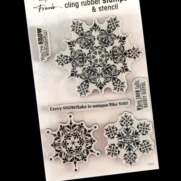 Stampendous Cling Stamp-Postcard Santa