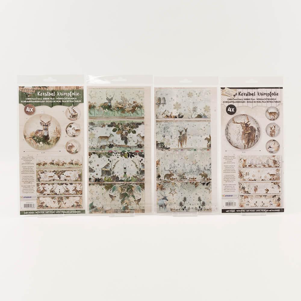 luv crafts woodland winter shrink wrap collection 16 x shrink films