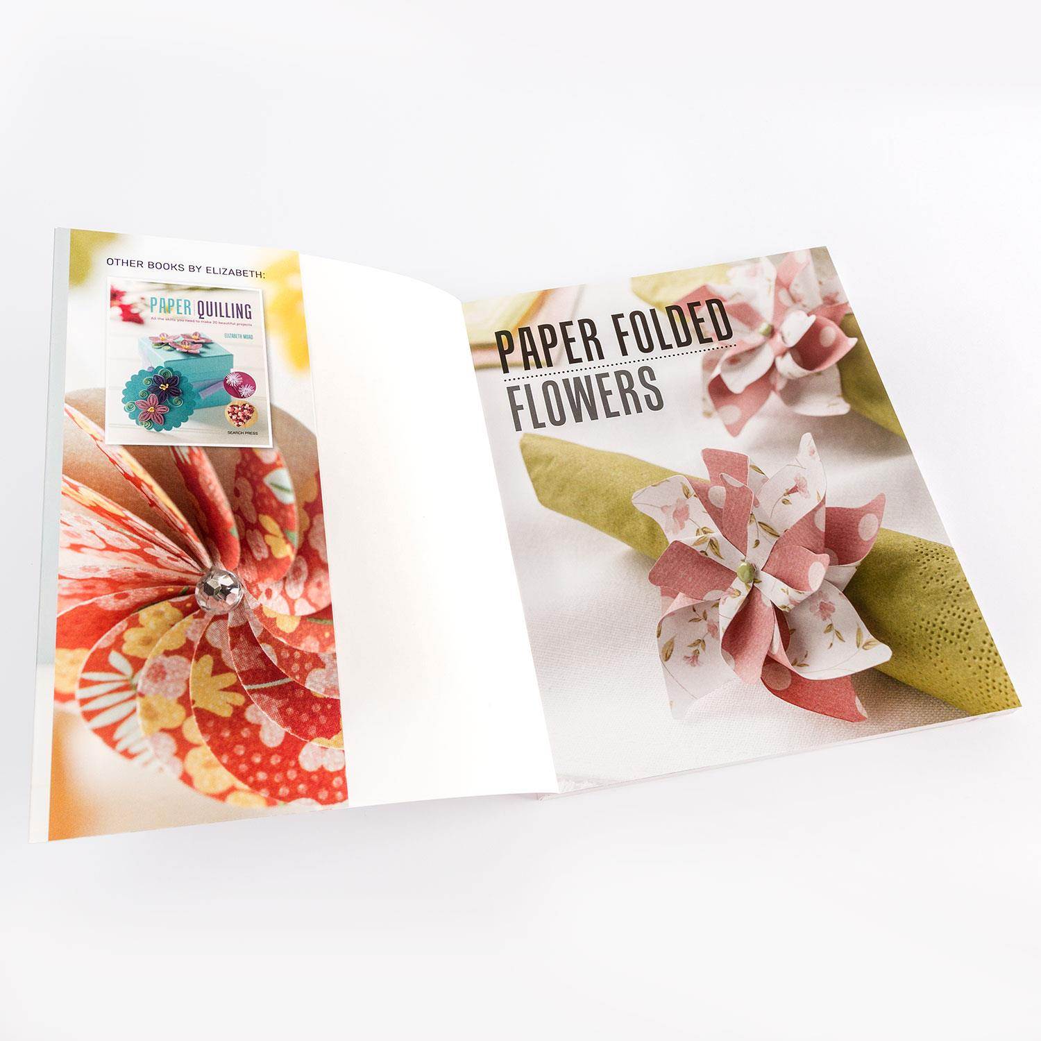 Search Press 3 X Paper Tutorial Books Paper Folded Flowers 3d