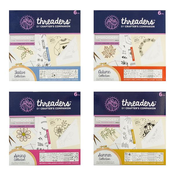 threaders embroidery transfer sheets four seasons collection