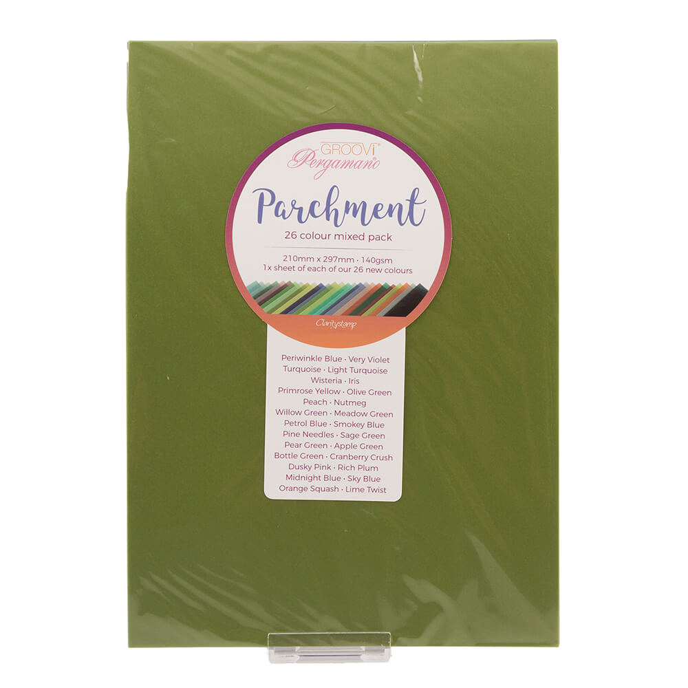 Groovi Two Tone A4 Mixed Parchment Pack