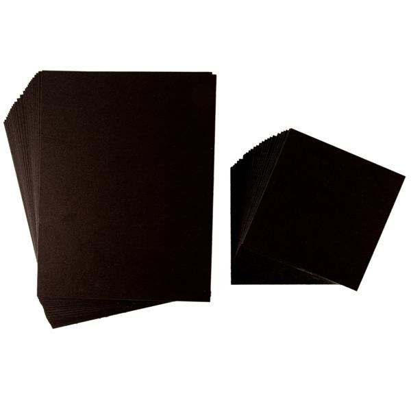 Grafix Medium Weight Chipboard Sheets 6X6 25//Pkg-Black