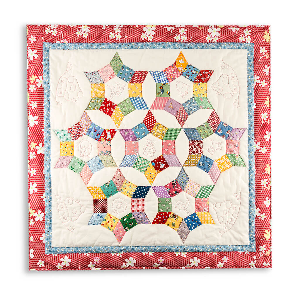 Lina Patchwork Epp Trixi Baby Quilt Pattern With Paper Pieces