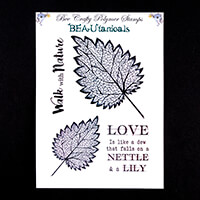 Bee Crafty BEAUtanicals Stamp Set - Nettle - 4 Stamps Total-000234