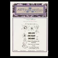 Artisan Design Freeline Fantasy Florals A6 Stamp Sheet - Star Lil-000861