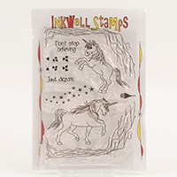 Inkwell Magical Unicorns Stamp Collection - Includes 14 Stamps-002552