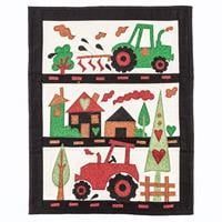 Tudor Rose Patchwork Country Tractor Run Kit-003973