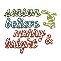Sizzix® Thinlits™ Set of 12 Dies - Shadow Script Christmas by Tim-006576