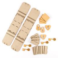 Tando Creative 2 x Greyboard Mini Trinket Boxes & 12 x MDF Embeli-008537