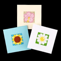 PixelHobby Summer Card Kit - 3 Baseplates, 3 Card Blanks & Envelo-008688