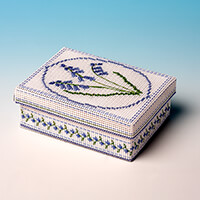 Nutmeg Bluebell Gift Box Cross Stitch Kit-011806
