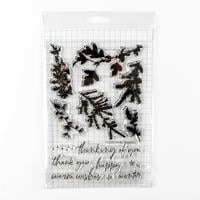 Memory Box Wintery Greenery Stamp Set - 14 Stamps-013095