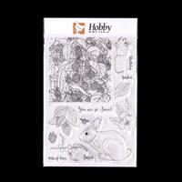 Hobby Art Bunny & Brambles A5 Clear Stamp Set - 14 Stamps-013695