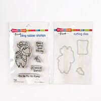 Stampendous Falla-Lla-Llama Cling Stamp and Die Set -  5 Stamps a-013788