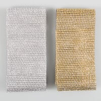 Eleganza Gold & Silver Diamond Mesh - Total 6 metres-015052