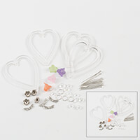 Impressions Crafts Set of 4 Fairy Heart Acrylic Hanger-015263