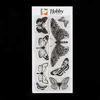 Hobby Art Janie's Collection Butterflies DL Clear Stamp Set from -015402