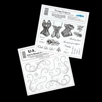 Creative Expressions 2 x Stamp Plates - Vintage Lingerie & String-015587