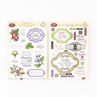 JustRite® 2 x Stamp Sets - Birthday Floral & Live Love Laugh - 45-015637