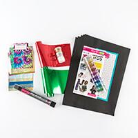 Tonertex™ Write n Rub Christmas Foiling Kit with Free Glitters & -017220