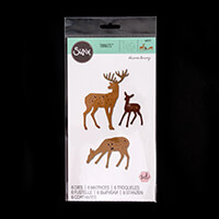 Sizzix® Thinlits™ Set of 6 Dies - Woodland Deer by Sharon Drury-018105