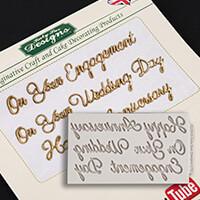 Katy Sue Word Perfect Wedding Set Silicone Mould-018759