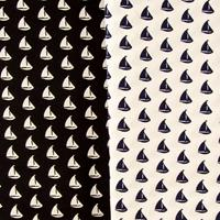 Perfect Occasions Set of 2 x 100% Cotton Fabrics - Sail Boat Coll-020529