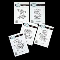 Creative Expressions 5 x Stamps - Mix Things, Measure, Tea & Bisc-020860
