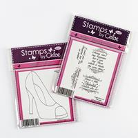Stamps by Chloe Large Shoe Stamp and Shopping Sentiments Stamp Se-021402