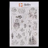 Hobby Art Under the Sea A5 Clear Stamp Set designed by Lisa Pearc-022192